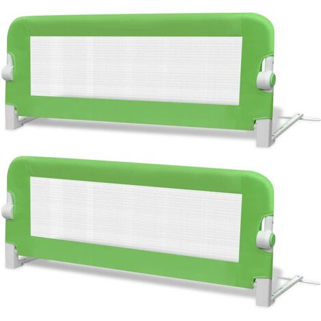 Hommoo Toddler Safety Bed Rail 2 pcs Green 102x42 cm QAH18972
