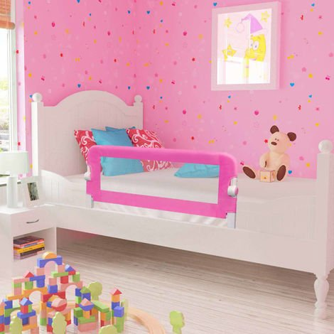 Hommoo Toddler Safety Bed Rail 2 pcs Pink 102x42 cm VD18974