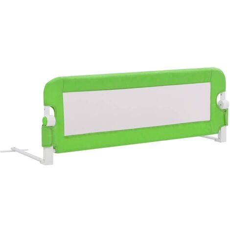 Hommoo Toddler Safety Bed Rail Green 120x42 cm Polyester QAH00083