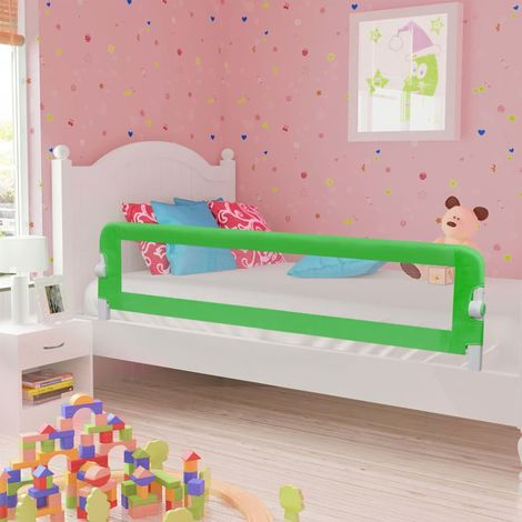 Hommoo Toddler Safety Bed Rail Green 180x42 cm Polyester