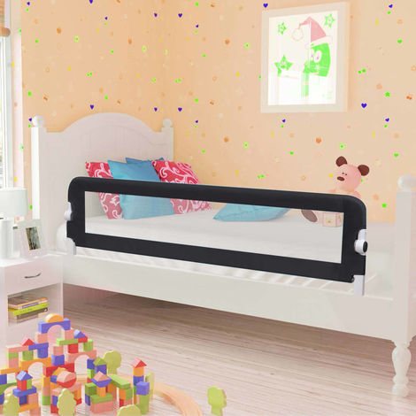 Hommoo Toddler Safety Bed Rail Grey 150x42 cm Polyester