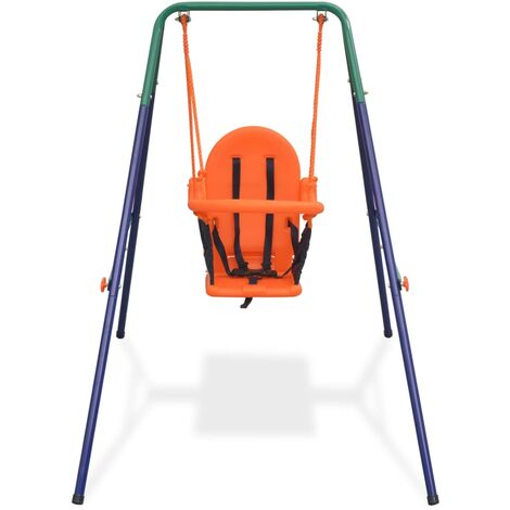 Hommoo Toddler Swing Set with Safety Harness Orange QAH32443