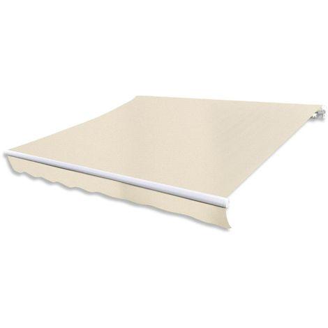 Hommoo Toldo de lona color crema 3x2,5 m sin armazón