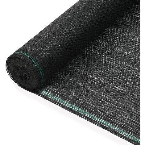 Hommoo Toldo para pista de tenis HDPE 1,2x50 m negro