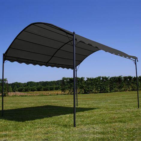 Hommoo Toldo parasol gris antracita 3x4 m