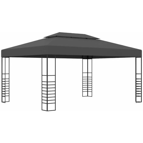 Hommoo Tonnelle 3x4 m Anthracite HDV46226