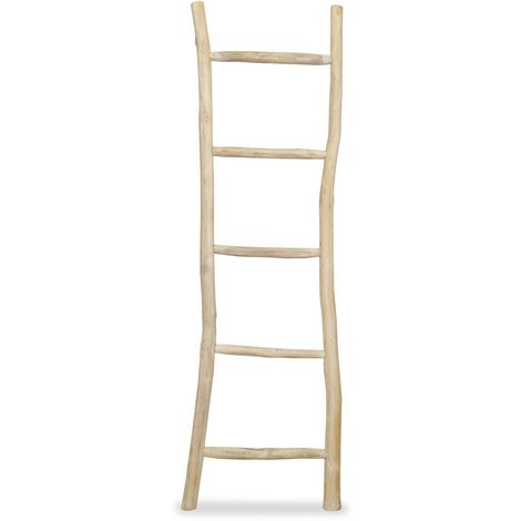 Hommoo Towel Ladder with 5 Rungs Teak 45x150 cm Natural VD10661