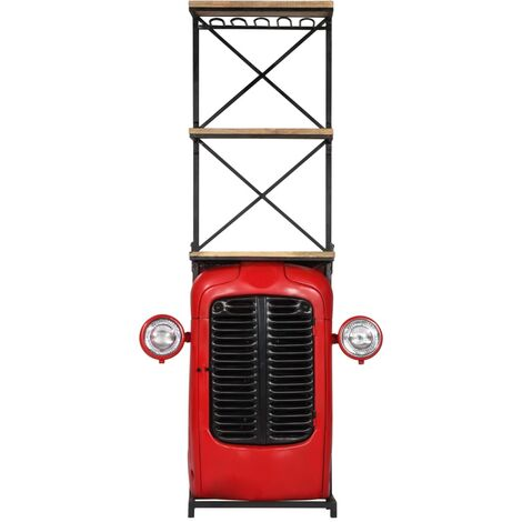 Hommoo Tractor Wine Cabinet 49x32x183 cm Solid Mango Wood QAH13720
