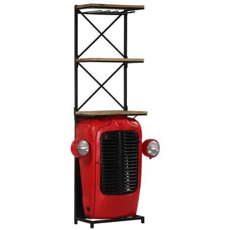 Hommoo Tractor Wine Cabinet 49x32x183 cm Solid Mango Wood VD13720