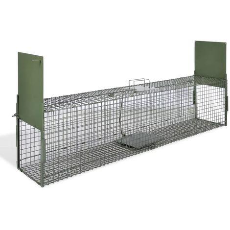 Hommoo Trampa para animales vivos 2 puertas 150x30x30 cm