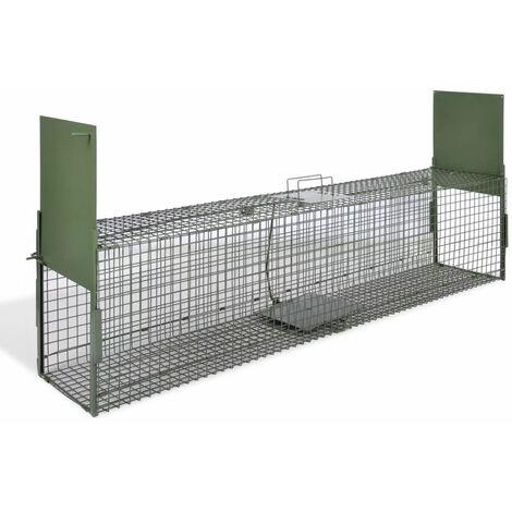 Hommoo Trampa para animales vivos 2 puertas 150x30x30 cm HAXD06830