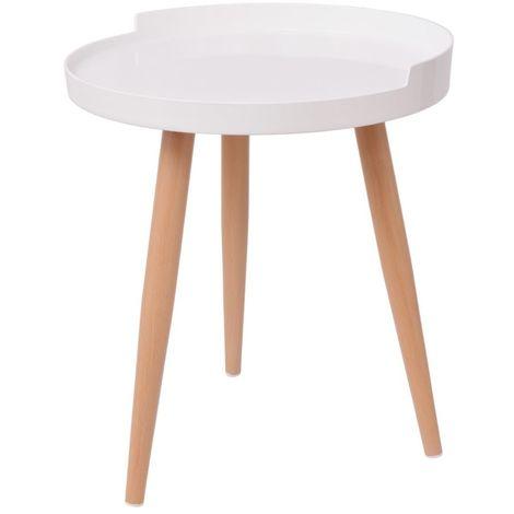 Hommoo Tray Coffee Table Round 40x45.5 cm White