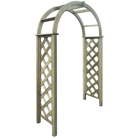 Hommoo Trellis Arch FSC Green Impregnated Pinewood VD27618