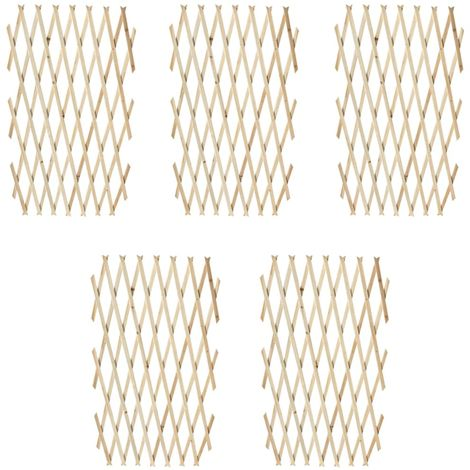 Hommoo Trellis Fence 5 pcs Solid Wood 180x90 cm VD26442
