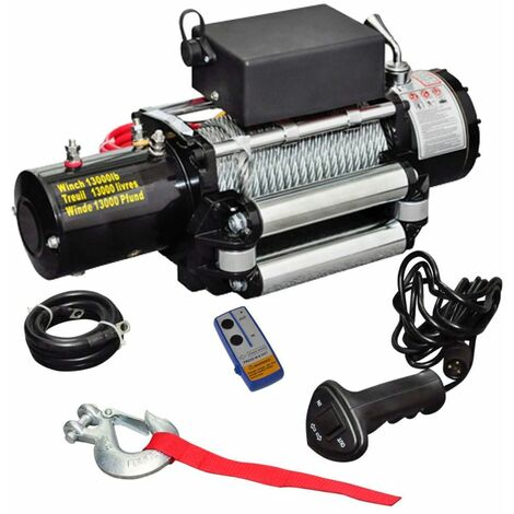 Hommoo Treuil électrique 12 V 5909 kg HDV07600