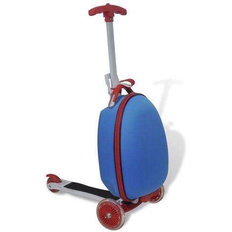 Hommoo Trottinette avec sac rigide pour enfants Bleu
