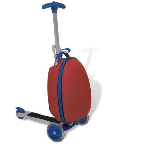Hommoo Trottinette avec sac rigide pour enfants Rouge