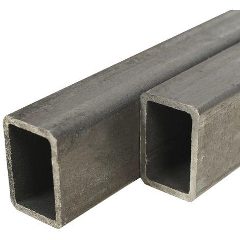 Hommoo Tubo acero estructural rectangular 2 uds caja 2 m 60x40x3mm