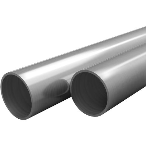Hommoo Tubos de acero inoxidable redondos 2 unidades V2A 2 m ?42x1,8mm