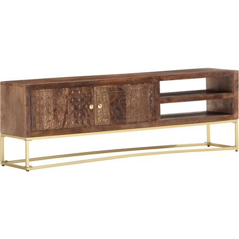 Hommoo TV Cabinet 140x30x30 cm Solid Mango Wood