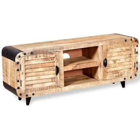 Hommoo TV Cabinet Rough Mango Wood 120x30x50 cm
