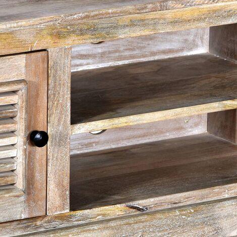 Hommoo TV Cabinet Solid Mango Wood QAH11253