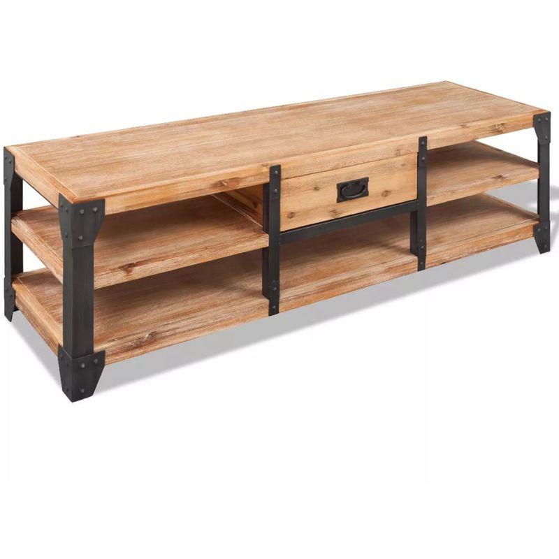 Hommoo TV-Lowboard Akazienholz Massiv 140 x 40 x 45 cm VD10164