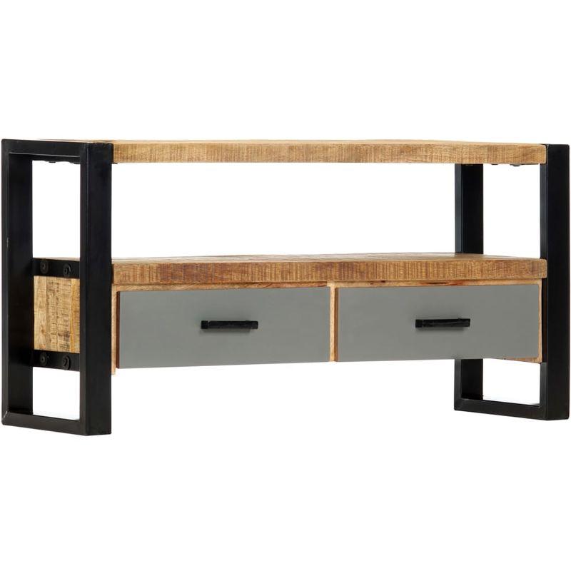 Hommoo TV-Schrank 100 x 30 x 50 cm Mango-Massivholz VD13861
