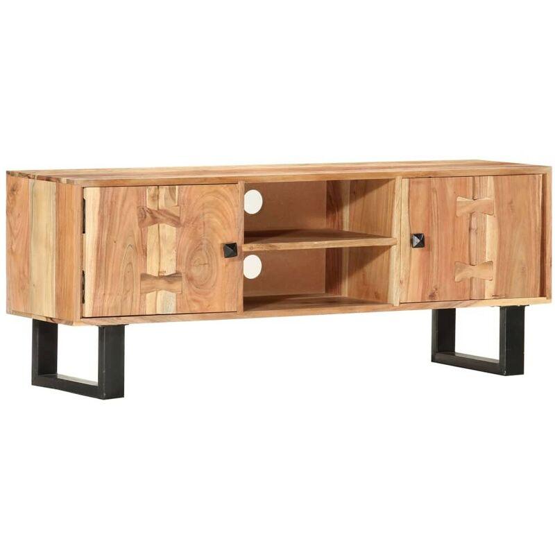 Hommoo TV-Schrank 118 x 30 x 45 cm Massivholz Akazie VD37324