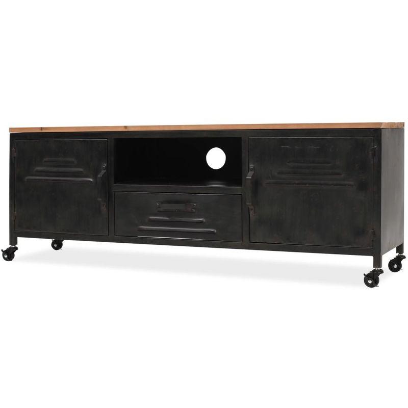 Hommoo TV-Schrank 120 x 30 x 43 cm Schwarz VD11445