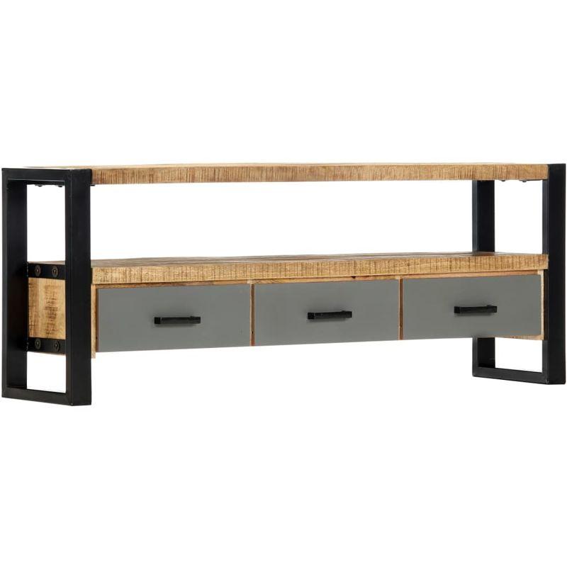 Hommoo TV-Schrank 130 x 30 x 50 cm Massivholz Mango VD13860
