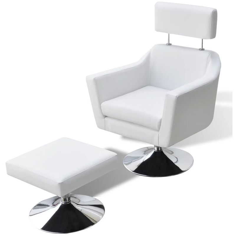 Hommoo TV-Sessel aus Kunstleder weiß VD08498