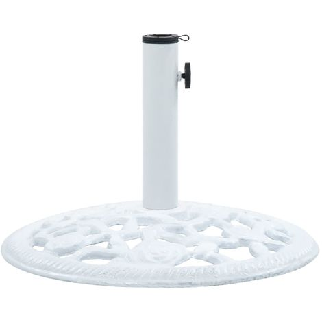 Hommoo Umbrella Base White 12 kg 48 cm Cast Iron
