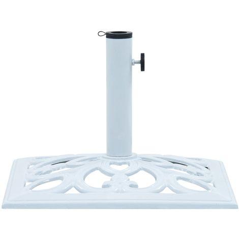 Hommoo Umbrella Base White 12 kg 49 cm Cast Iron