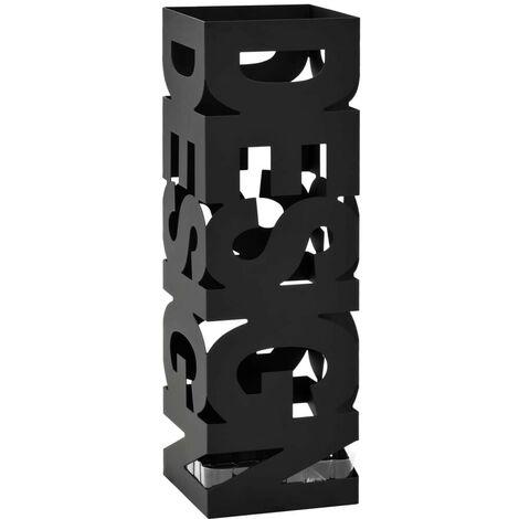 Hommoo Umbrella Stand Design Steel Black
