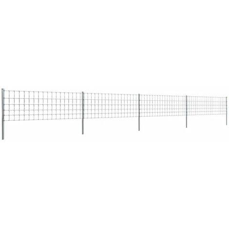 Hommoo Valla con postes de hierro recubierto de zinc 50 m 80/6/15