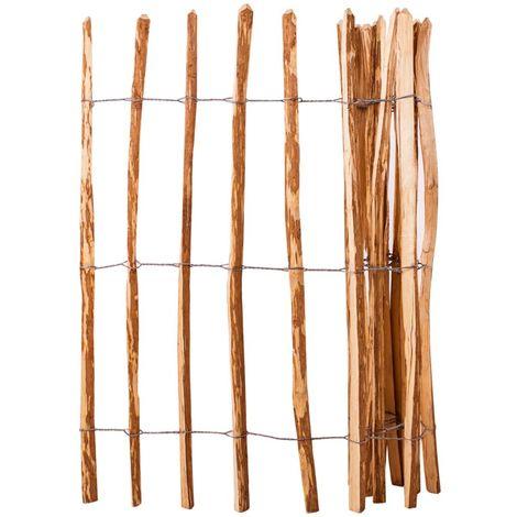 Hommoo Valla de estacas madera de avellano 120x250 cm