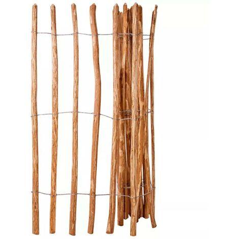 Hommoo Valla de estacas madera de avellano 150x250 cm