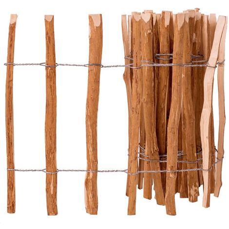 Hommoo Valla de estacas madera de avellano 60x500 cm