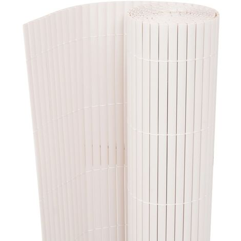 Hommoo Valla de jardín de doble cara 90x500 cm blanca