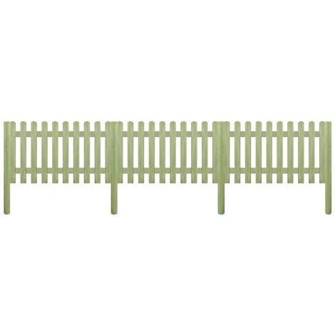 Hommoo Valla de jardín de madera de pino impregnada 5,1m 150cm 6/9cm