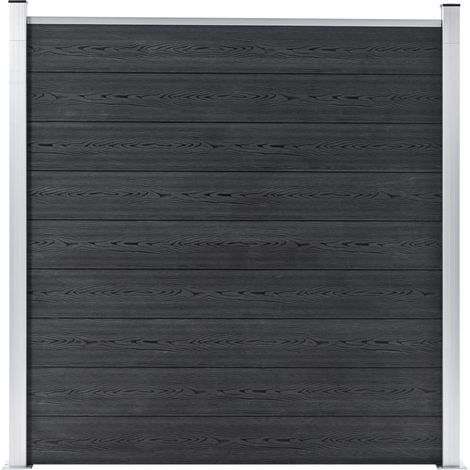 Hommoo Valla de jardín de WPC gris 180x186 cm