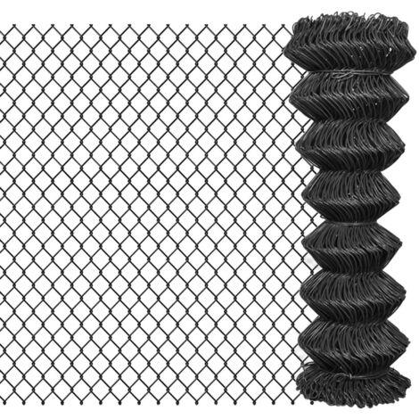 Hommoo Valla de tela metálica acero gris 15x1,25 m