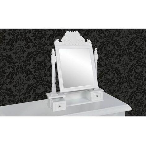 Hommoo Vanity Makeup Table with Rectangular Swing Mirror MDF QAH30944