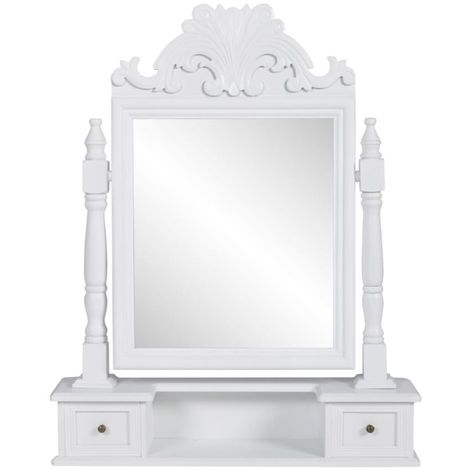 Hommoo Vanity Makeup Table with Rectangular Swing Mirror MDF VD30944