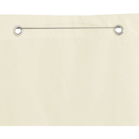 Hommoo Vertical Awning Oxford Fabric 140x240 cm Cream QAH28935