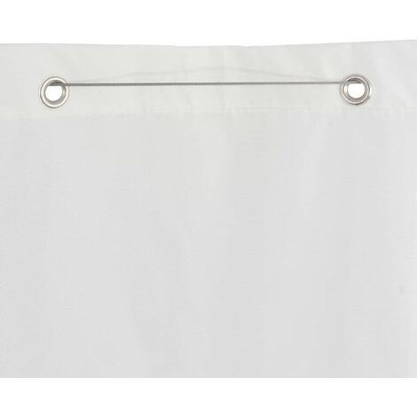 Hommoo Vertical Awning Oxford Fabric 140x240 cm White QAH28933