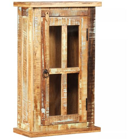 Hommoo Wall Cabinet Solid Reclaimed Wood 44x21x72 cm
