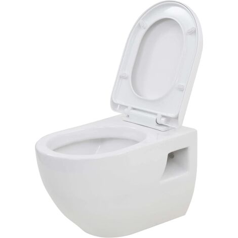 Hommoo Wall-Hung Toilet Ceramic White QAH05023