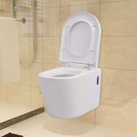 Hommoo Wall Hung Toilet Ceramic White VD10416